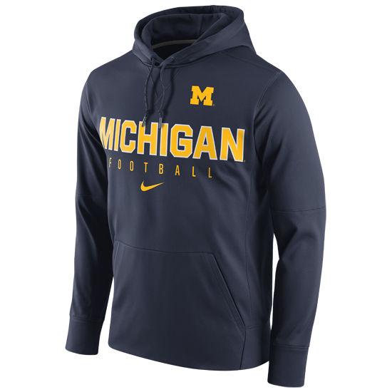 Nike Sweatshirts Nike University of Michigan Football Navy ...