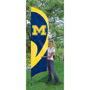 Tall University of Michigan Team Flag