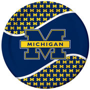 Set of 8 Michigan Large Paper Plates 9''