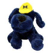 Navy Plush Michigan Puppy Dog 14''