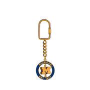 Key Chain Spinner Michigan Block M