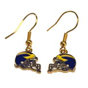 Michigan Helmet Dangle Earrings