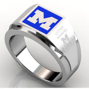 Women's Steel Square Michigan Ring