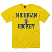 New Agenda Yellow Michigan Hockey Tee