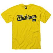 New Agenda Yellow Script Michigan Tee