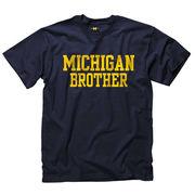 New Agenda Navy Michigan Brother Tee