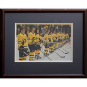 Framed Hockey Players Print