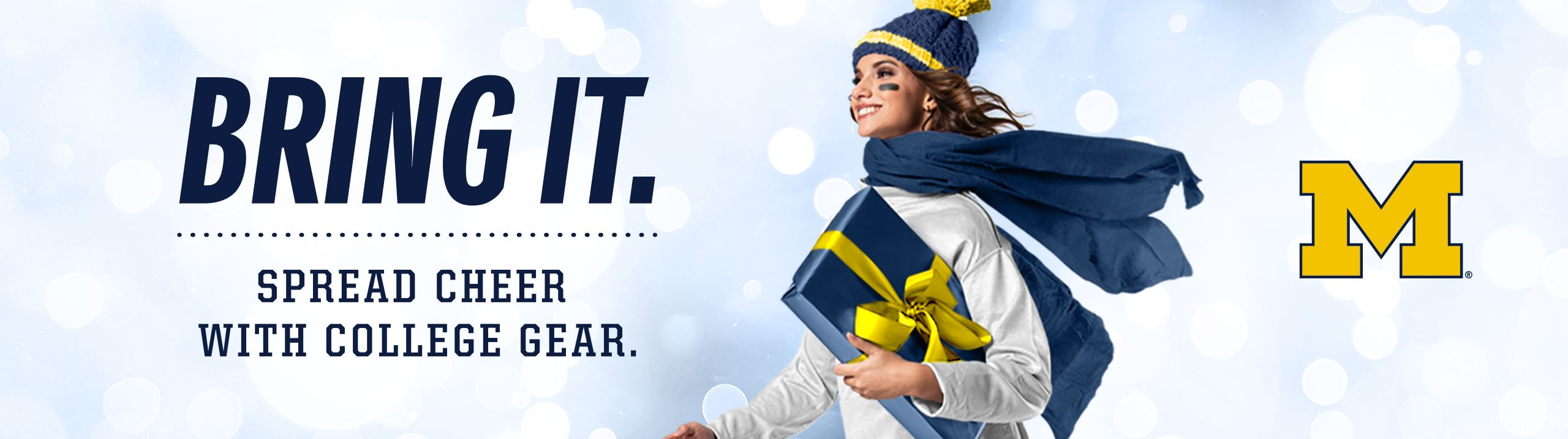 Bring It. Spread Cheer with College Gear.