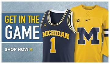 University of Michigan Basketball and Hockey Jerseys