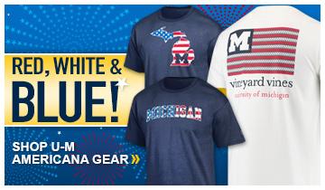 Red, White and Blue! Shop U-M Americana Gear