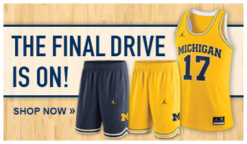 The Final Drive Is On- Cheer the Wolverines as they drive onto March with gear from The M Den
