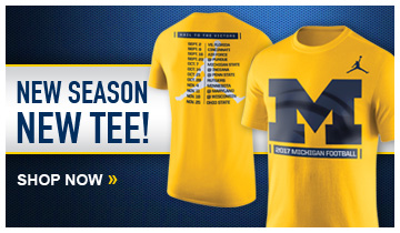 Get ready for the 2017 Michigan Football season with the official season shirt from Jordan Brand!
