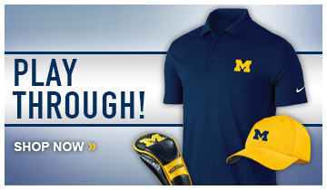 FOUR! Improve your short game while looking great in U-M Nike Golf Apparel
