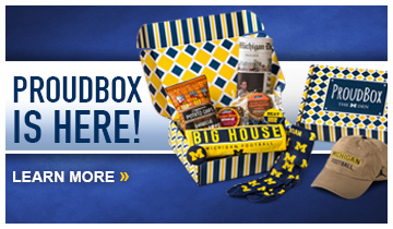 ProudBox presented by The M Den is here! Subscribe and get monthly U-M themed gifts and treats!