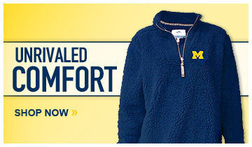 University of Michigan Women's Sherpa 1/4 Zip Pullovers