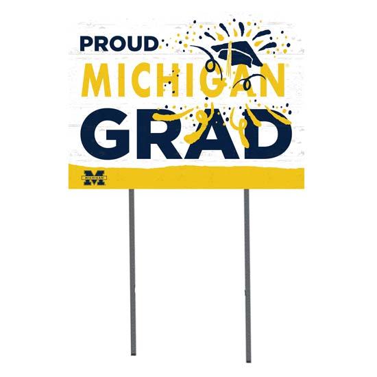 KH Sports Fan University of Michigan ''Proud Michigan Grad'' Yard Sign