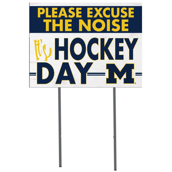 KH Sports Fan University of Michigan Hockey ''Excuse The Noise'' Yard Sign