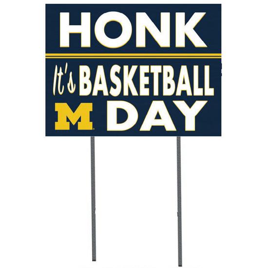 KH Sports Fan University of Michigan Basketball ''Honk! It's Game Day'' Yard Sign