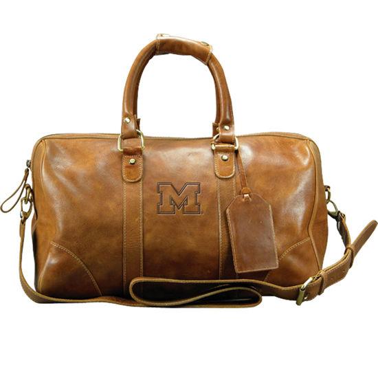 Carolina Sewn University of Michigan Westbridge Leather Duffel Bag
