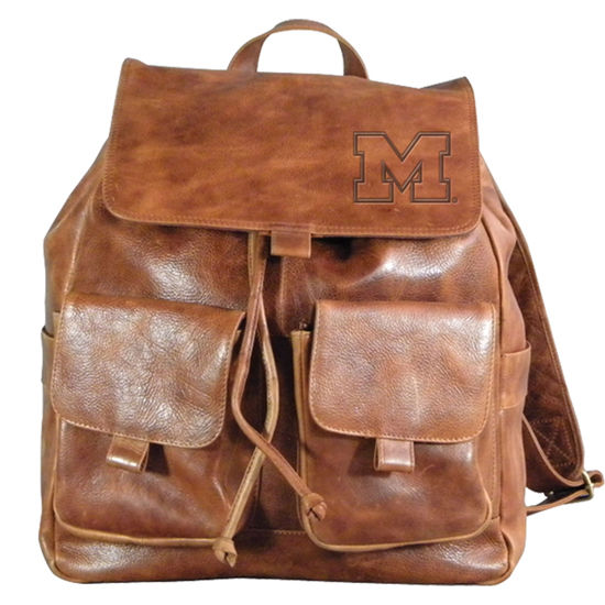 Carolina Sewn University of Michigan Westbridge Leather Rucksack