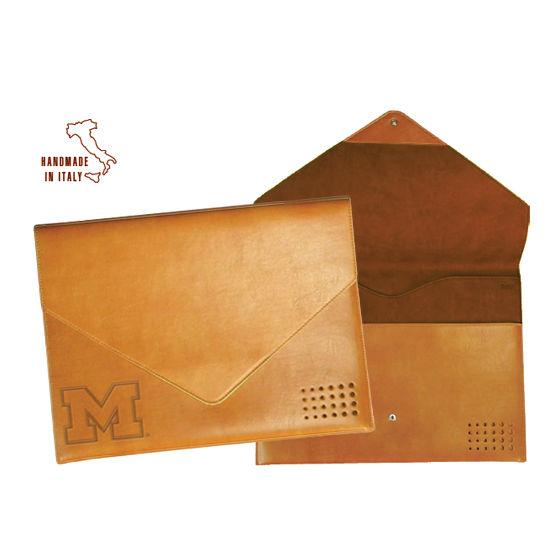 Carolina Sewn University of Michigan Leather Document Folder