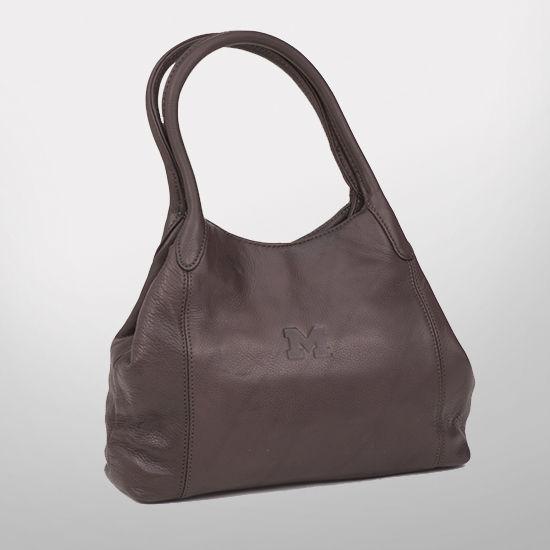 Canyon Outback University of Michigan Ladies Cove Creek Leather Handbag