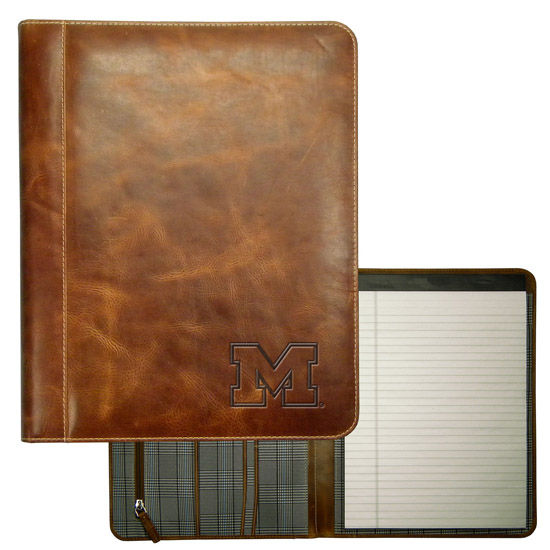 Carolina Sewn University of Michigan Leather Padholder