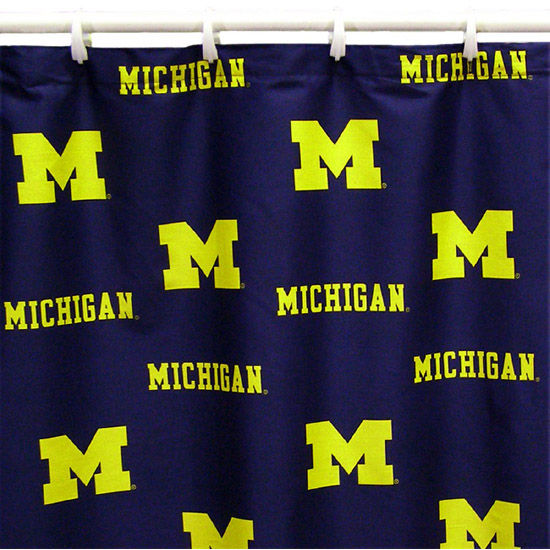 College Covers University Of Michigan Fabric Shower Curtain