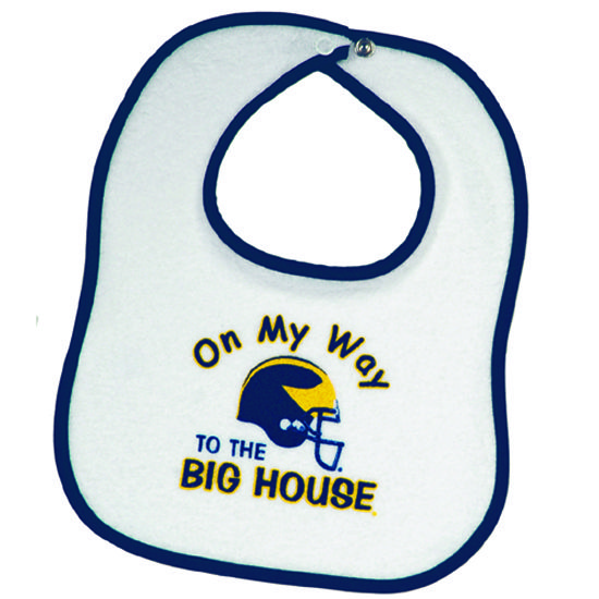 J2 University Of Michigan On My Way To The Big House Baby Bib