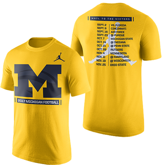 Jordan University of Michigan Football 2017 Season Tee