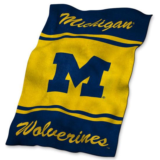 Logo University of Michigan Ultrasoft Fleece Blanket