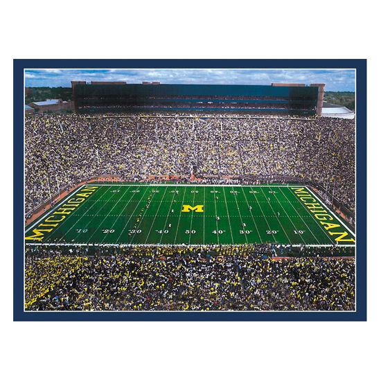 Boxercraft University of Michigan Football Stadium Scenes Throw Blanket