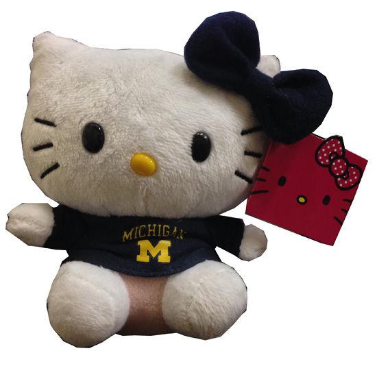 PlushLand University of Michigan Hello Kitty Stuffed Doll