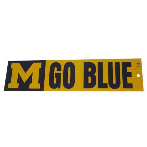 Michigan Wolverines M Go Blue Bumper Sticker