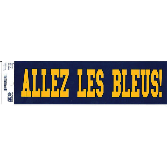 Pine University of Michigan French Go Blue Bumper Sticker