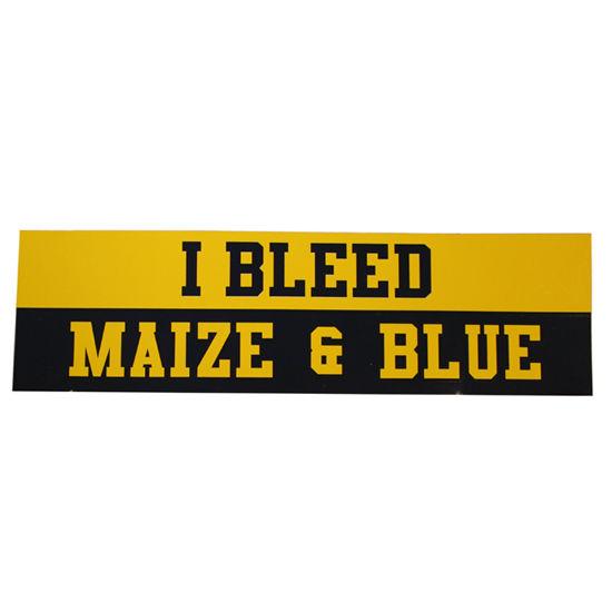 Pine University of Michigan I Bleed Maize & Blue Bumper Sticker