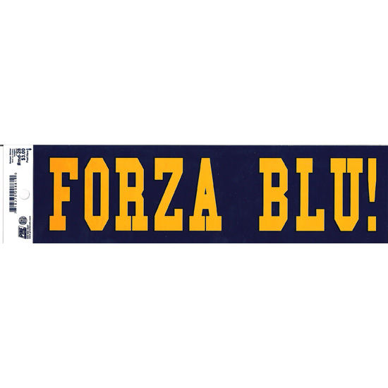 Pine University of Michigan Italian Go Blue Bumper Sticker
