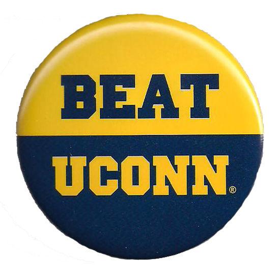 MCM University of Michigan Beat UConn Button