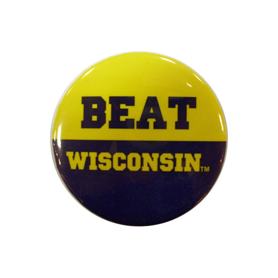 MCM University of Michigan Beat Wisconsin Button