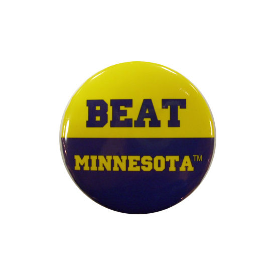 MCM University of Michigan Beat Minnesota Button