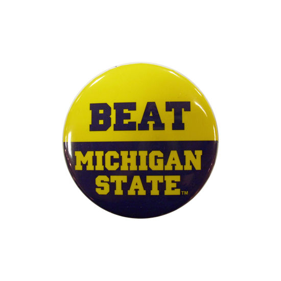 MCM University of Michigan Beat Michigan State Button