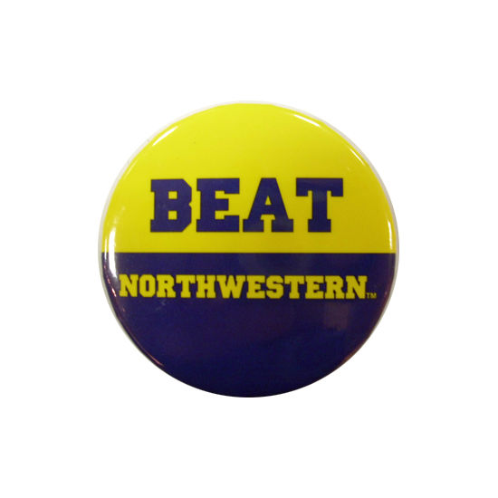 MCM University of Michigan Beat Northwestern Button