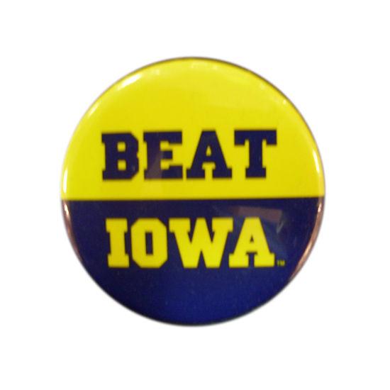 MCM University of Michigan Beat Iowa Button