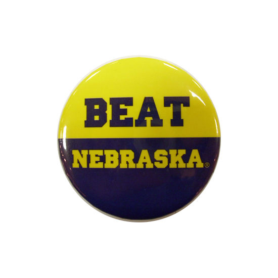 MCM University of Michigan Beat Nebraska Button