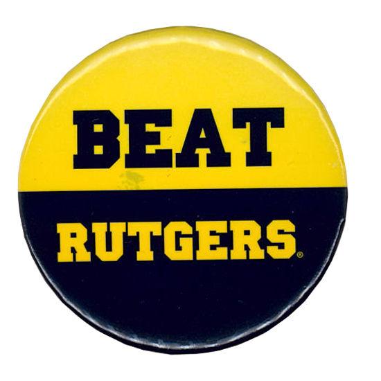 MCM University of Michigan Beat Rutgers Button