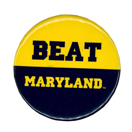 MCM University of Michigan Beat Maryland Button