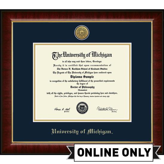 University of Michigan Diploma Frame: Church Hill Classics Engraved ...