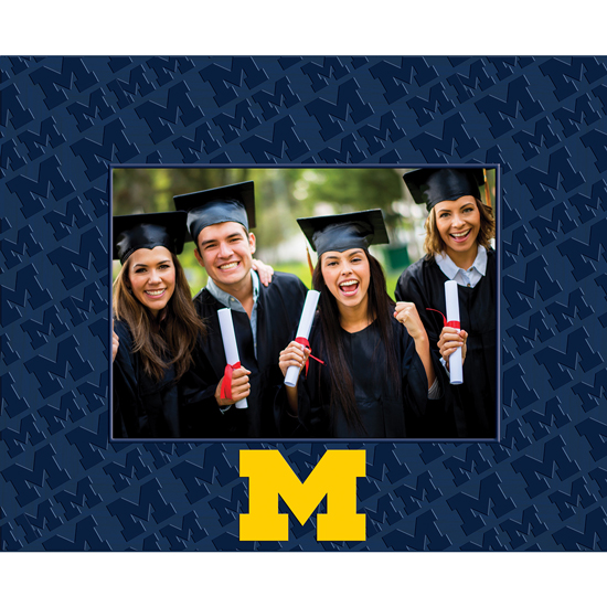 Church Hill Classics University of Michigan Spectrum 5x7 Patterned Picture Frame