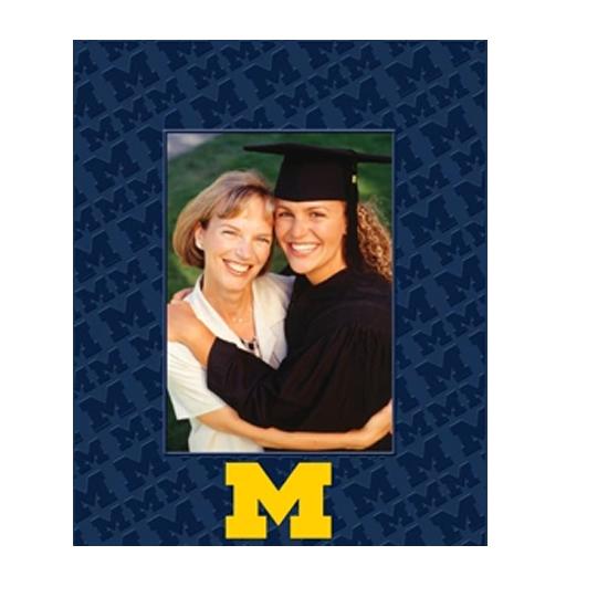 Church Hill Classics University of Michigan Spectrum 5x7 Patterned Vertical Picture Frame