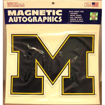 SDS University of Michigan 11 Large Block M Car Magnet